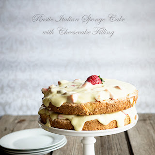 Rustic Italian Spongecake with Creamy Cheesecake Filling