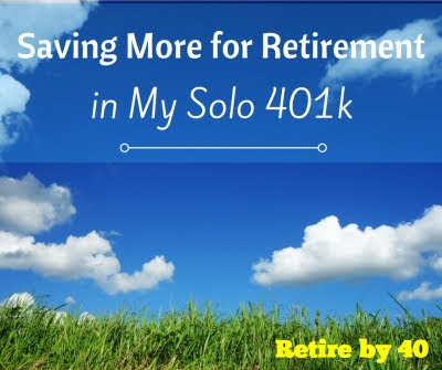 Saving More for Retirement in My Solo 401k