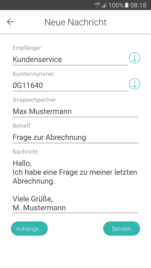 azh myService- screenshot