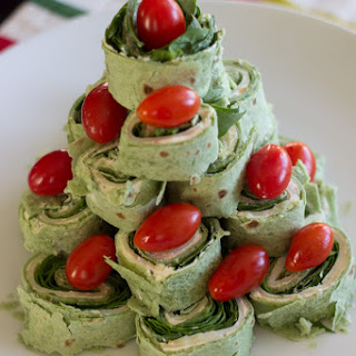Christmas Tree Pita Pinwheel