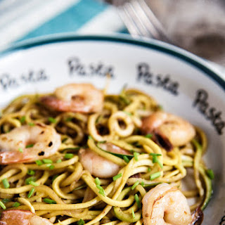 Garlic Shrimp With Zucchini Noodles.
