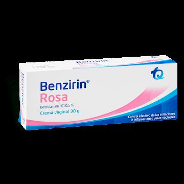 Benzirin Rosa 0.5% Crema   Tubo x30g TQ Bencidamina HCI