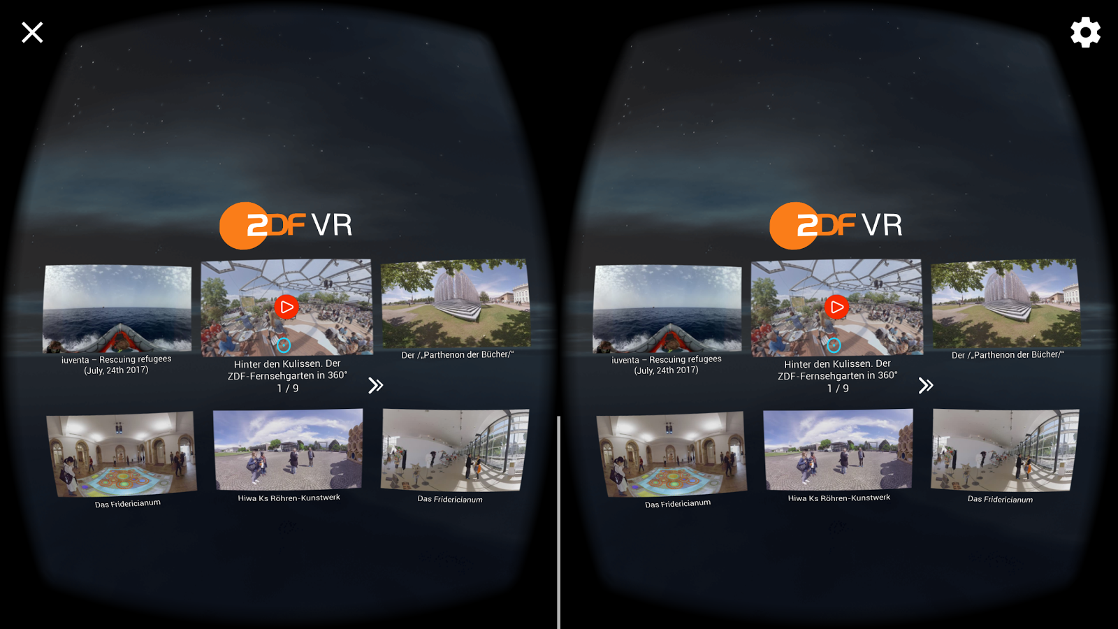 ZDF VR – Screenshot