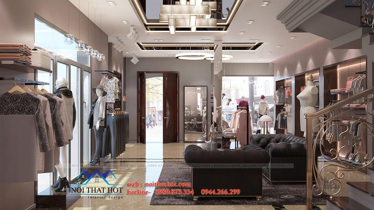 thiết kế shop thời trang sang trọng 7