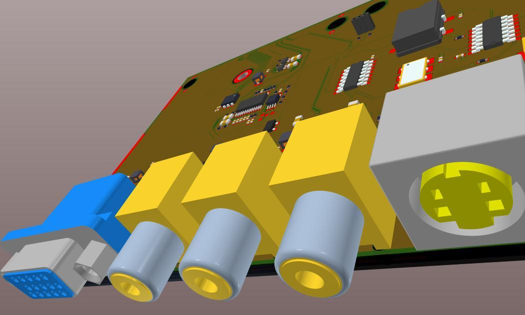 Screenshot of AD18 3D component placement in Gerber Files and 3D PCB Editor