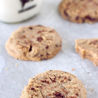 Brown Butter Peanut Butter Cookies with Smoked Chocolate Chips