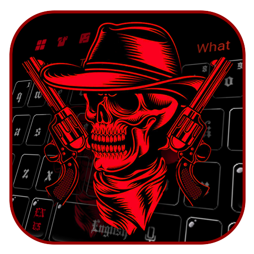 Red Skull & Gun Keyboard