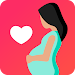 Pregnancy due date tracker with contraction timer icon