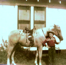 Photo: Jerry & his Palomino horse, Diamond cira 1954/55