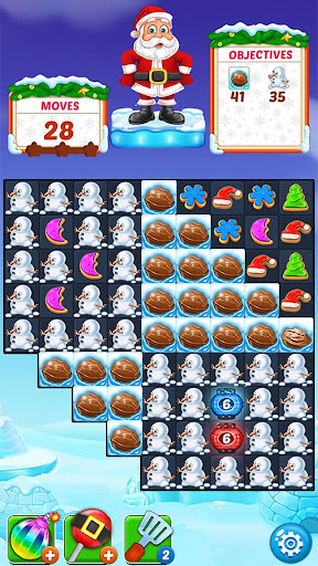 Christmas Cookie - Santa Claus's Match 3 Adventure modavailable screenshots 7