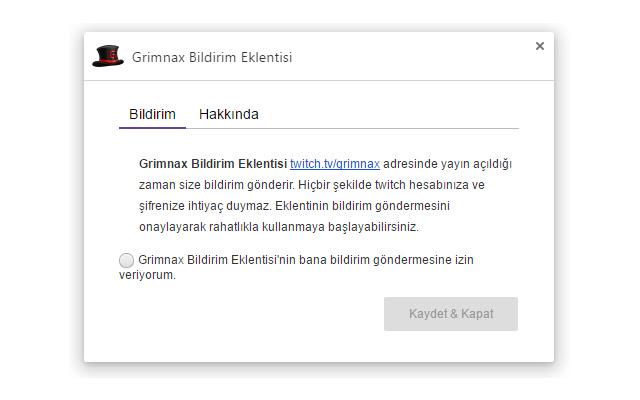 Grimnax Bildirim Eklentisi