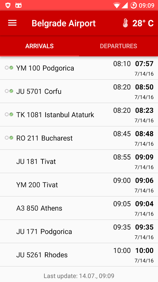 Belgrade Airport- screenshot