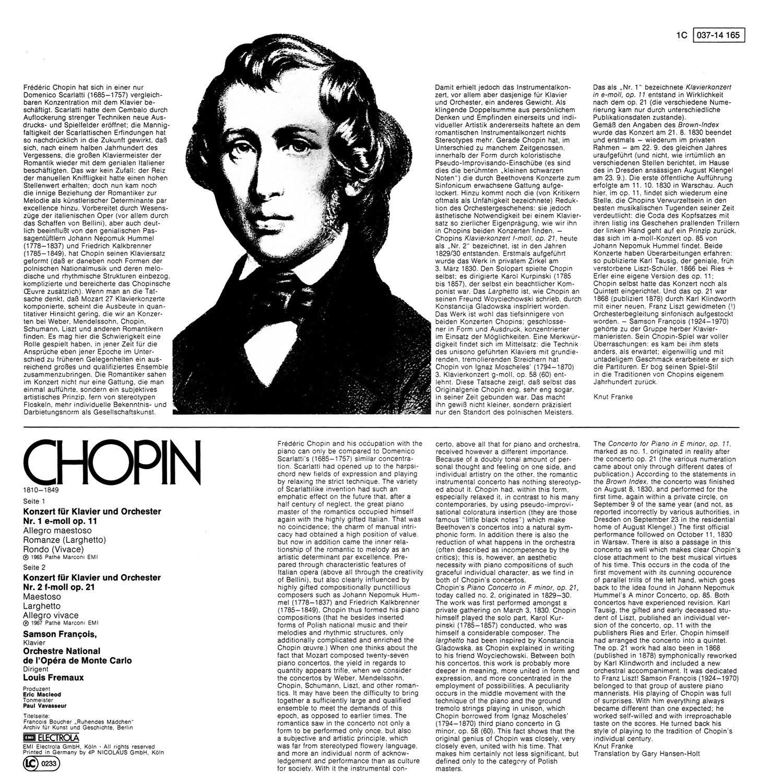 Frédéric Chopin, Louis Fremaux, Samson Francios