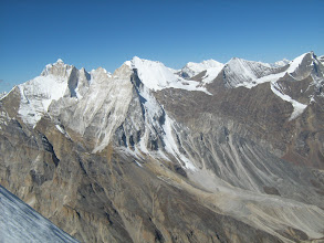 Photo: Mt Thalaysagar, Mt Shivling, Mt Bhrigupanth and Mt Meru ....as seen from summit