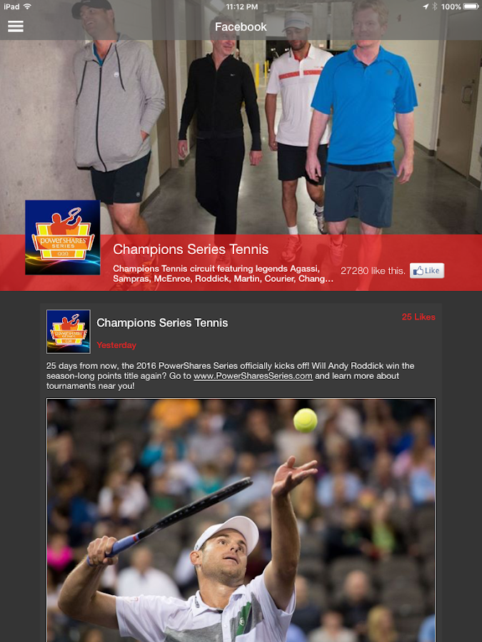 PowerShares Series Tennis- screenshot