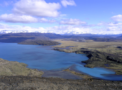 The high point of a 10-mile hike in Torres del Paine National Park