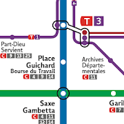Metro Map: Lyon (Offline)