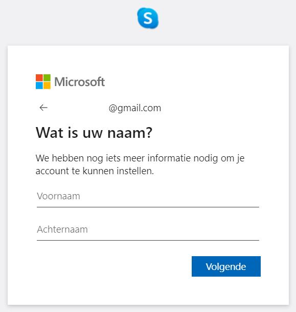 Skype account voornaam en achternaam instellen
