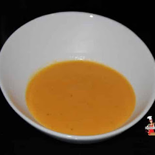 Tomato, Carrot, and Coconut Soup.