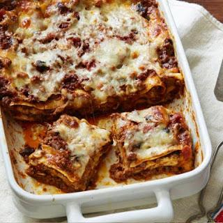 Meat and Mushroom Lasagna