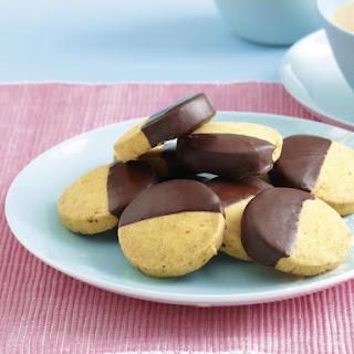 Chocolate-Orange Shortbread Cookies.