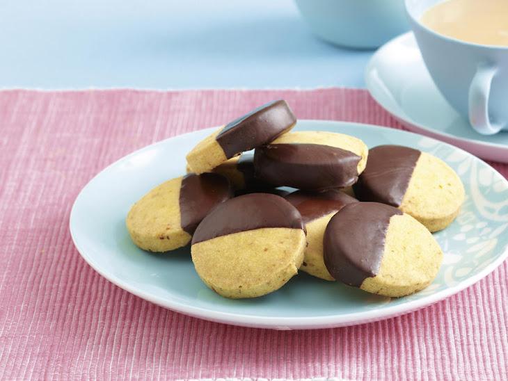 Chocolate-Orange Shortbread Cookies Recipe | Yummly