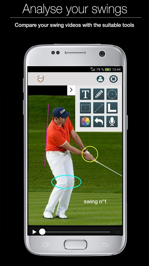 Swing analysis- screenshot