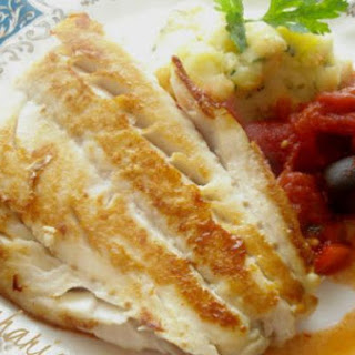 Cod With Tomatoes, Olives And Chorizo.
