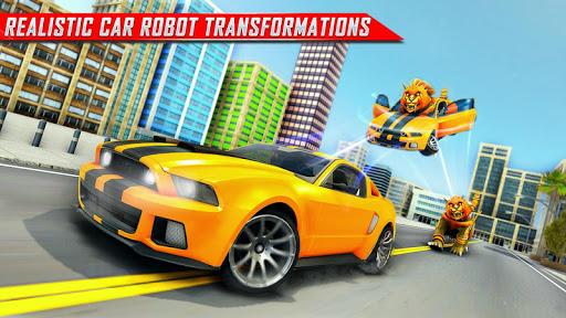 Lion Robot Car Transforming Games: Robot Shooting 1.4 screenshots 8