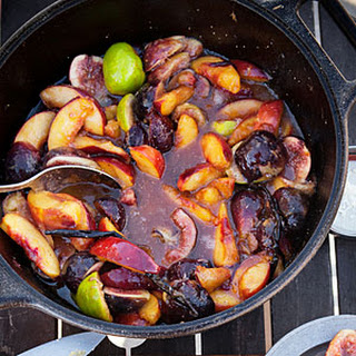 Campfire-Glazed Peaches and Figs