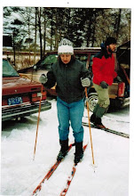 Photo: MTS - 1987 Winter ski trip (r to l) Annelee Wright (?) and Laurie Kirchmeier