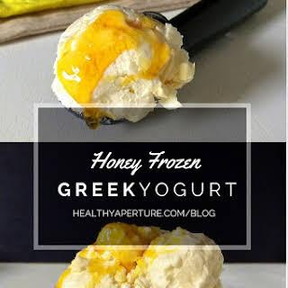 Honey Frozen Greek Yogurt.