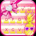 Cool Girly Pineapple Keyboard Theme icon