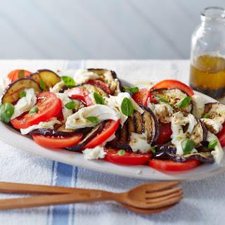 Barbecued Aubergine, Mozzarella And Tomato Salad