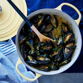 Mussels with Fennel and Saffron.