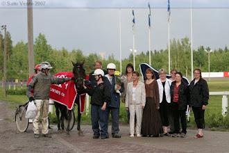 Photo: Lämminveristen Veeruska-ajon voittaja 8.7.2007 Bp's Neverlast/Ari Moilanen