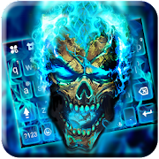 App Blue Flame Skull Keyboard Theme APK for Windows Phone
