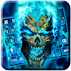 Blue Flame Skull Keyboard Theme Android apk