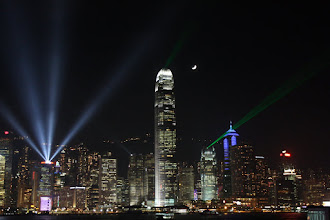 Photo: Day 195 -  Symphony of Lights Viewed from Victoria Harbour (Hong Kong)
