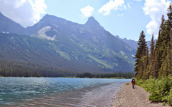 Photo: Walk on the beach to our campsite on night #4 at the upper end of Elizabeth Lake