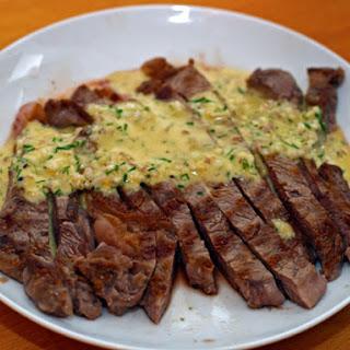 Grilled Steak With Sauce Gribiche.
