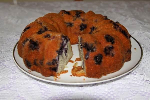 Blueberry Pound Cake, Mr Toms Recipe