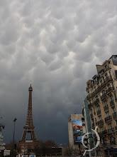 Photo: Mammatus clouds.