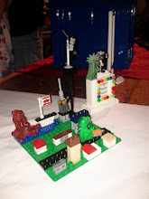 Photo: Neat micro-scale creations by one of the younger creators.