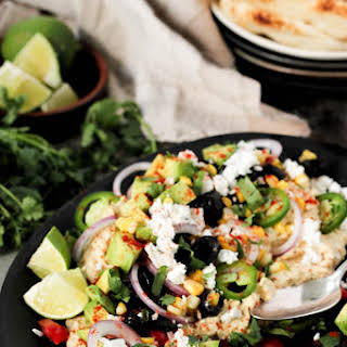 Deconstructed Mexican Hummus Dip.