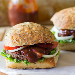 Black Bean and Quinoa Burgers with Strawberry BBQ Sauce