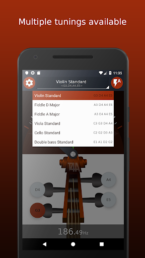 Violin Tuner - Free tuner for violin & fiddle 1.6.2 screenshots 3