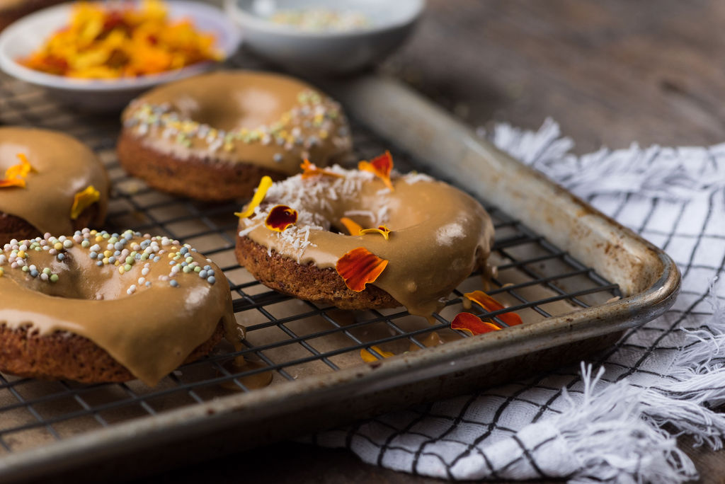 maple glazed sweet potato donuts