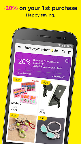factorymarket - The lowest prices in the world! Android App Screenshot