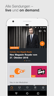 ZDFmediathek & Live TV- screenshot thumbnail